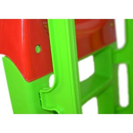 Горка для детей для дома большая зелено-красная 014550/1 ТМ Долони