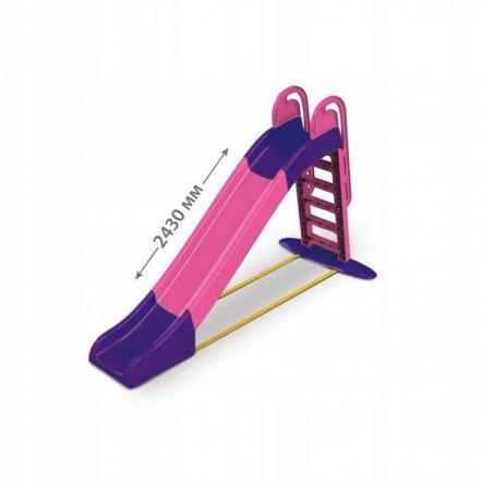 Горка для детей для дома с водой большая розово-фиолетовая 014550 Doloni