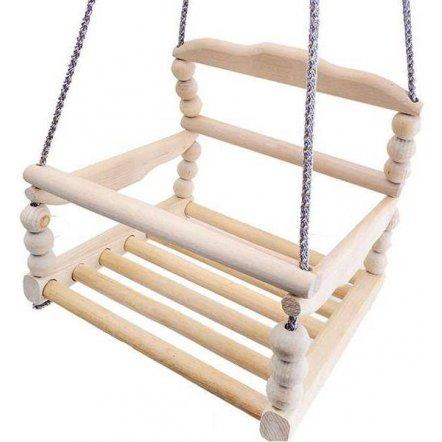Качели деревянные подвесные К112