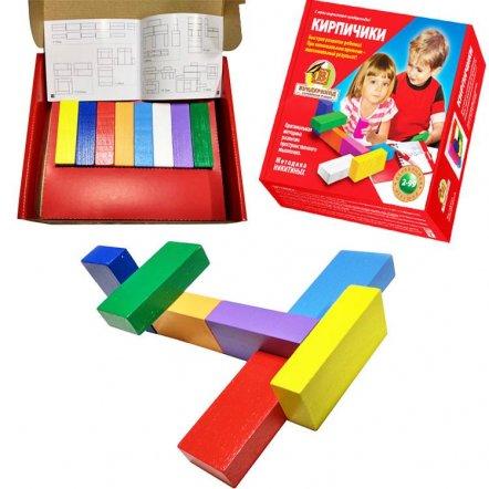Кубики деревянные Кирпичики К-005 Вундеркинд