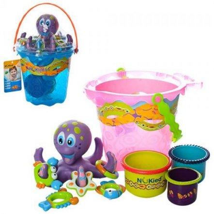 Игрушка для купания Осьминог с морскими животными и ведром K-05