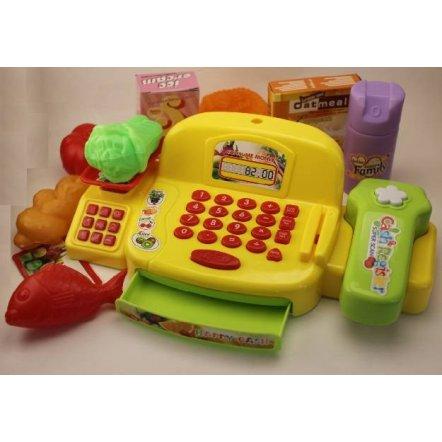 Кассовый аппарат детский со сканером, весами со звуками и светом LS820G9-1