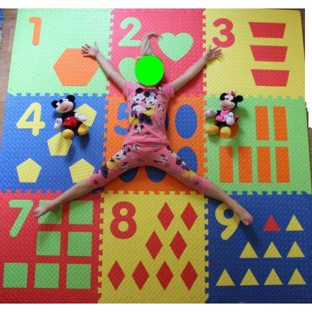 Коврик-пазл для  детей Мегаразмер Цифры и фигуры М 0384
