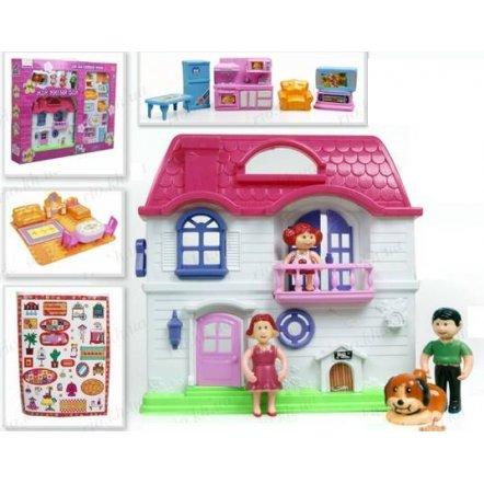"""Кукольный домик """"Мой милый дом"""" с фигурками и мебелью 0202"""