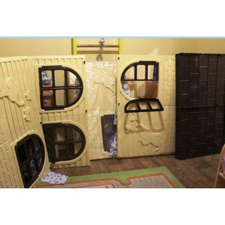 Домик для  детей для улицы средний квадратный бежевый Долони-Тойс 02550-2