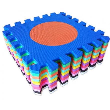 Коврик  пазл мягкий игровой пол Логика 30-30-1 см 10 пластин