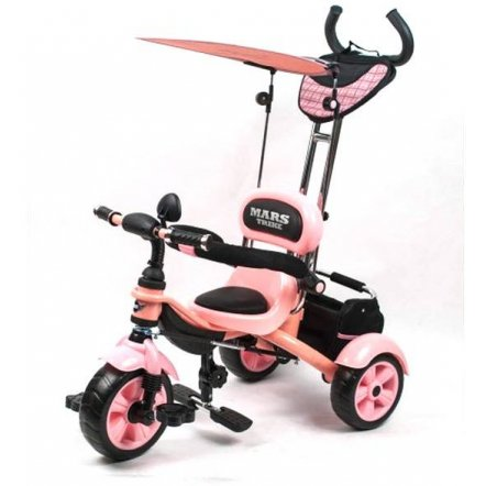 Велосипед Mars Trike трехколесный с родительской ручкой фиолетовый. НОВИНКА!!
