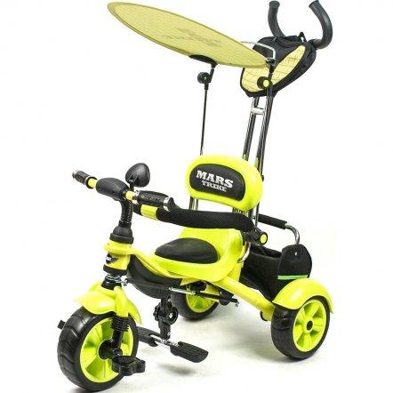 Велосипед Mars Trike трехколесный с родительской ручкой салатовый KR 01. НОВИНКА!!