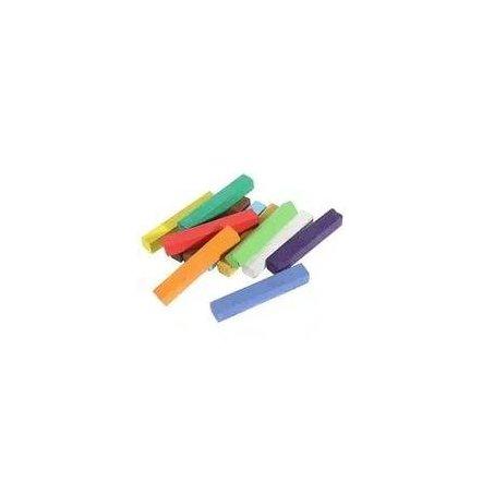 Мелки разноцветные квадратные 12 цветов КК912