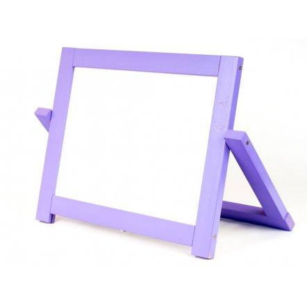 Мольберт деревянный маленький двухсторонний 2 в 1 фиолетовый