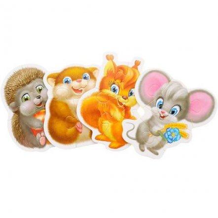 "Беби  пазлы ""Животные"" VT1106-05-07-09 Vladi Toys, Украина"