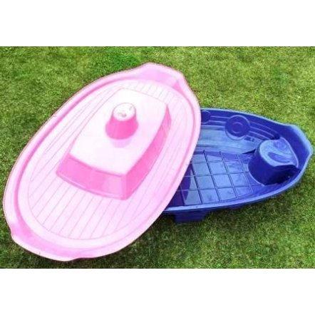 Купить детскую песочницу с крышкой Долони для девочки Корабль