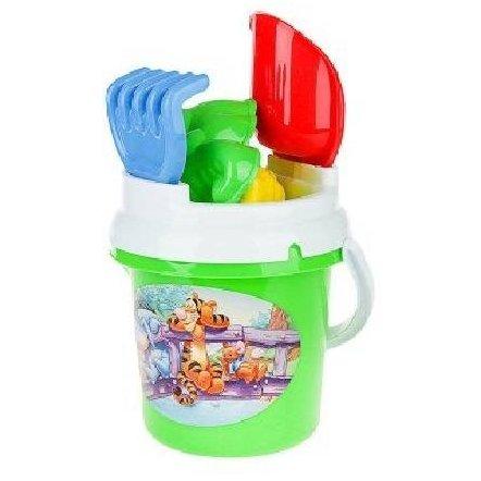 Песочный набор  Ведро, лопатка, грабельки и пасочки Toys Plast