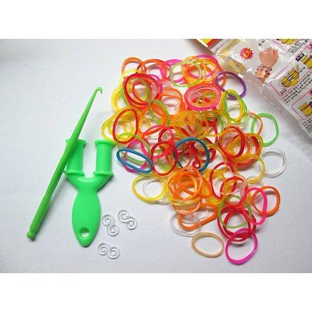Набор резиночек для плетения браслетов с рогаткой и крючком 1516 Loom Bands