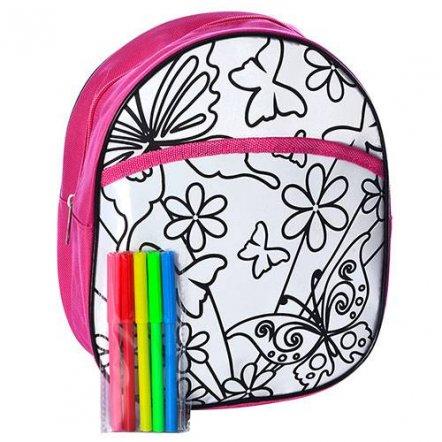 Раскраска рюкзак с фломастерами 2 вида MK 0641-1