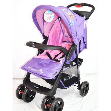 Коляска детская прогулочная с перекидной ручкой sigma S-K-6 фиолетово-розовая. НОВИНКА!!!