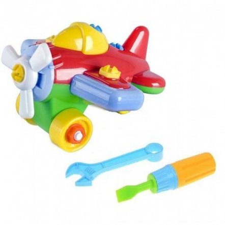 Конструктор Собирайка самолет с инструменты 30.001 Toys Plast, Украина