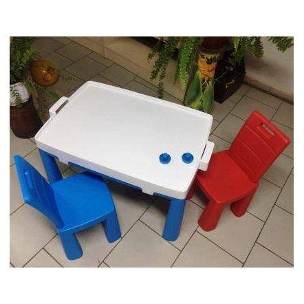 Стол и 2 стула пластиковые + аэрохоккей 4 цвета ТМ Долони