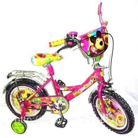 """Детский двухколесный велосипед 12"""" Mustang """"Маша и медведь"""""""