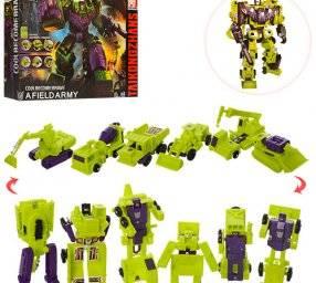 Трансформер 7 в 1 робот+транспорт H202 зеленые
