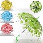 Зонтик детcкий кленовый лист прозрачный M3625