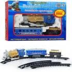 Железная дорога Голубой вагон детская музыкальная 282 см 70144