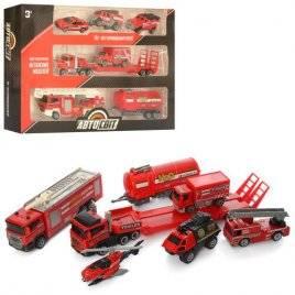 Набор  машинок металлических пожарных AS-1980 АвтоМир
