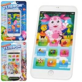 Телефон игрушечный сенсорный Современные мультики W-001-02-03