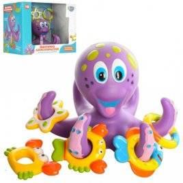 Игрушка для купания Осьминог кольцеброс AQ 0001