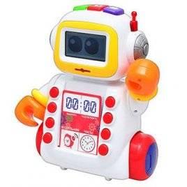"""Интерактивный развивающий робот Шунтик с часами и будильником  """"Умный Я"""" 00024"""