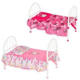 Кроватка для кукол металлическая Hello Kitty 00027