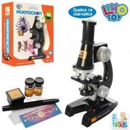 Микроскоп + пробирки со светом SK 0007 в коробке