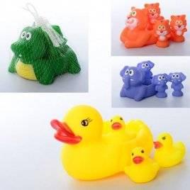 Пищалки игрушки для купания Животные семейка 001-628-48-58