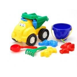 """Машинка """" Смайл"""" № 3 самосвал с песочным набором Colorplast, Украина"""