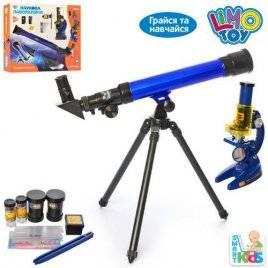 Телескоп и микроскоп + пробирки SK 0014 в коробке
