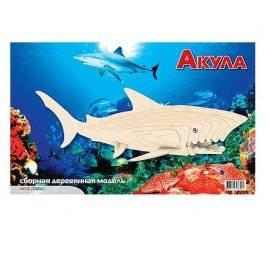 Конструктор деревянный Акула 30 деталей E001