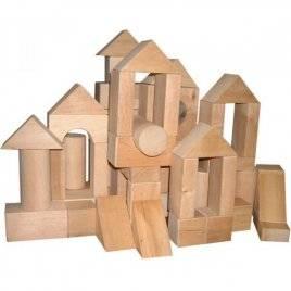 Конструктор Городок деревянный 34 элемента ВП-003/1 Винни Пух