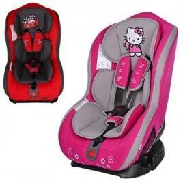 Автокресло детское Тачки или Hello Kitty группа 0+/1 до 18 кг BAB003-8 Bambi
