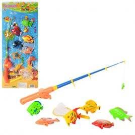 Рыбалка удочка с магнитом сачок 0039