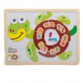 Пазлы деревянные Часы-животные на магните 00513-14-15