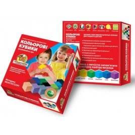 Кубики цветные деревянные 16 штук по методика Монтессори К-006 Вундеркинд