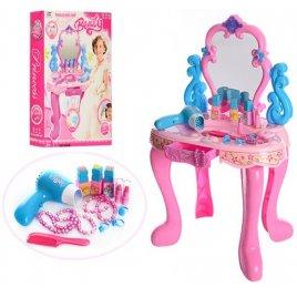 Трюмо для девочки с музыкой и светом 008-86 розовое с голубым