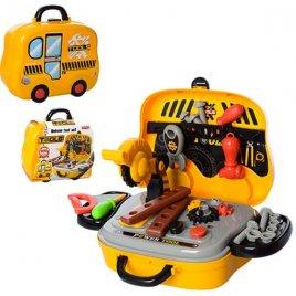 Набор инструментов в чемодане-машинке на колесах 008-916 желтый