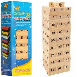 Игра деревянная Башня из цифр 00836