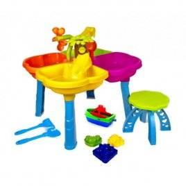 Песочный стол со стулом лодочкой и пасочками для игры в песке 01-122 Киндервей