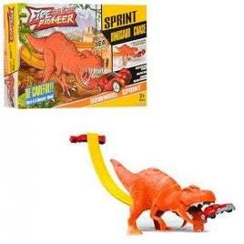 Трек динозавр + металлическая машинка WZ010-12