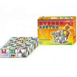 """Малые кубики """"Азбука"""" 0120 Технок"""