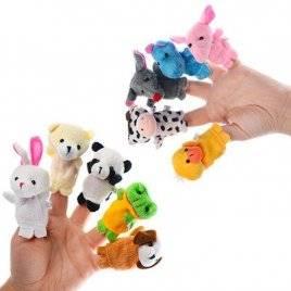 Пальчиковый театр животных для детей 10 штук C012