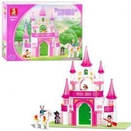 Конструктор для девочек Замок Розовая мечта B 0153 SLUBAN, Китай