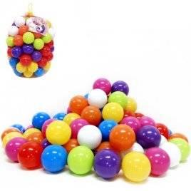 Шарики пластмассовые большие 9 см 40 штук мягкие 02-428 Киндервей